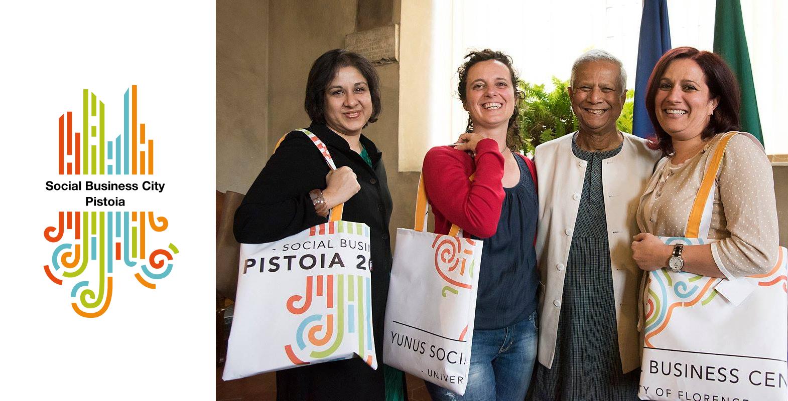 Yunus con imprenditori sociali pistoiesi