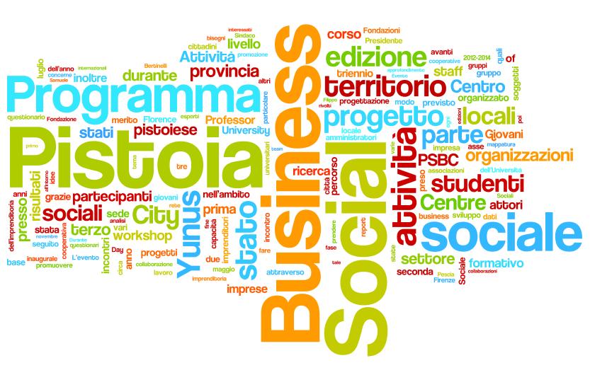 pistoia social business city programme le attività dal 2012 al 2014