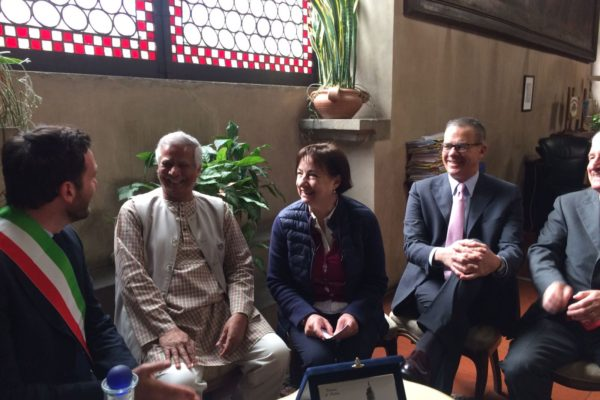 Il Prof. Yunus a Pistoia per il Social Business Day 2018