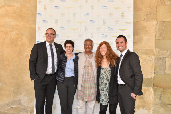 Yunus con Barcelona Social Business City