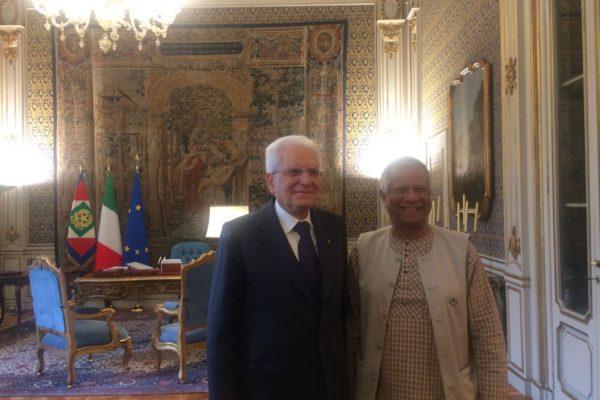 Il Prof Yunus incontra il Presidente Mattarella
