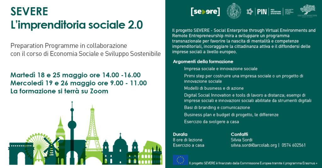 imprenditoria sociale 2.0 innovazione sociale SEVERE formazione studenti università di firenze impresa sociale
